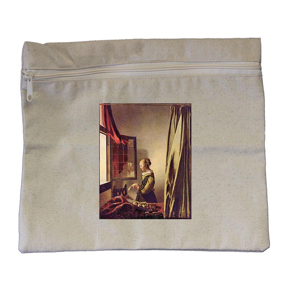 Girls At The Open Window (Vermeer) Canvas Zippered Pouch Makeup Bag