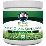 Dr. Berg's Wheat Grass Superfood Powder - Raw Juice Organic Ultra-Concentrated Rich in Vitamins & Nutrients - Chlorophyll & T