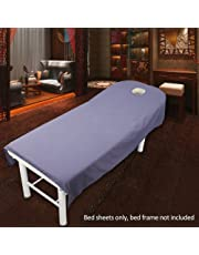 Sabana bajera para camilla de masaje, de UXELY, para tratamientos de belleza y masajes, salón, spa, con agujero