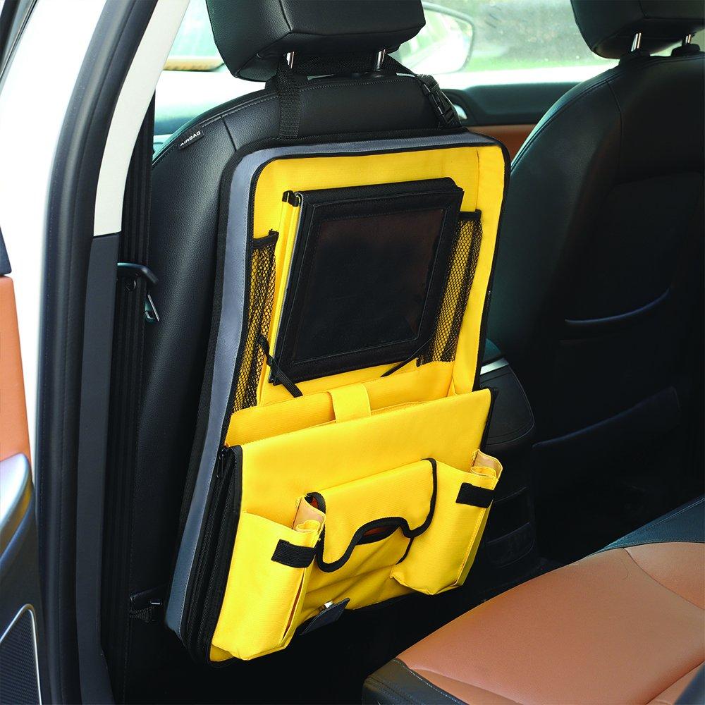 Ottimo accessorio da viaggio per bambini. removibile e 12 scomparti Parenthings Originale Auto Bambini Posteriore Sedile Organizzatore Design unico con supporto per tablet