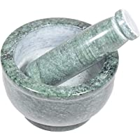 IKARUS Marble Mortar and Pestle Set for Kitchen (4-inches, Green)