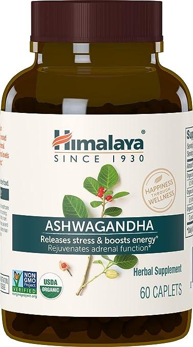 Himalaya Ashwagandha - - Producto adaptogénico para aliviar el estrés, bajar el nivel de cortisol y aumentar la energía - Sin OMG - 60 Cápsulas: Amazon.es: ...