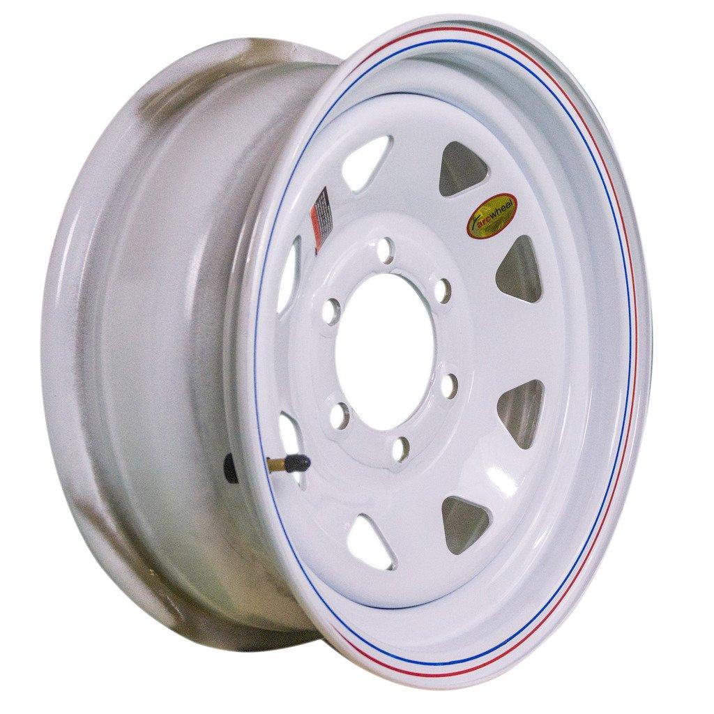 Arcwheel White Spoke Steel Trailer Wheel - 16'' x 6'' Rim - 6 on 5.5 3,500lb Capacity