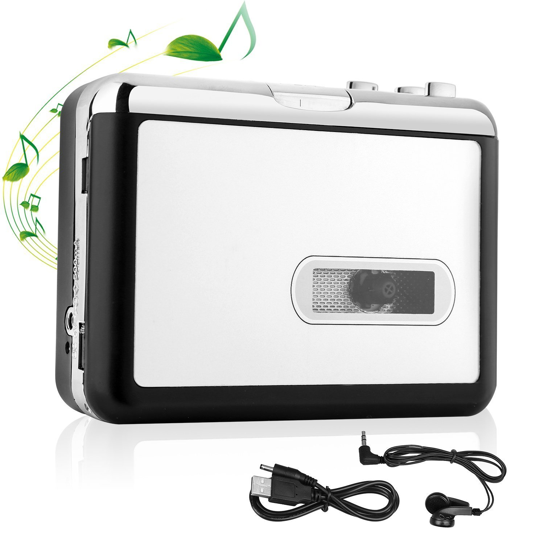 LivePow Cassette to MP3 Converter USB Cassette Converter Cassette Player with Earphone, Portable Cassette Converter Convert Tapes to Digital Version