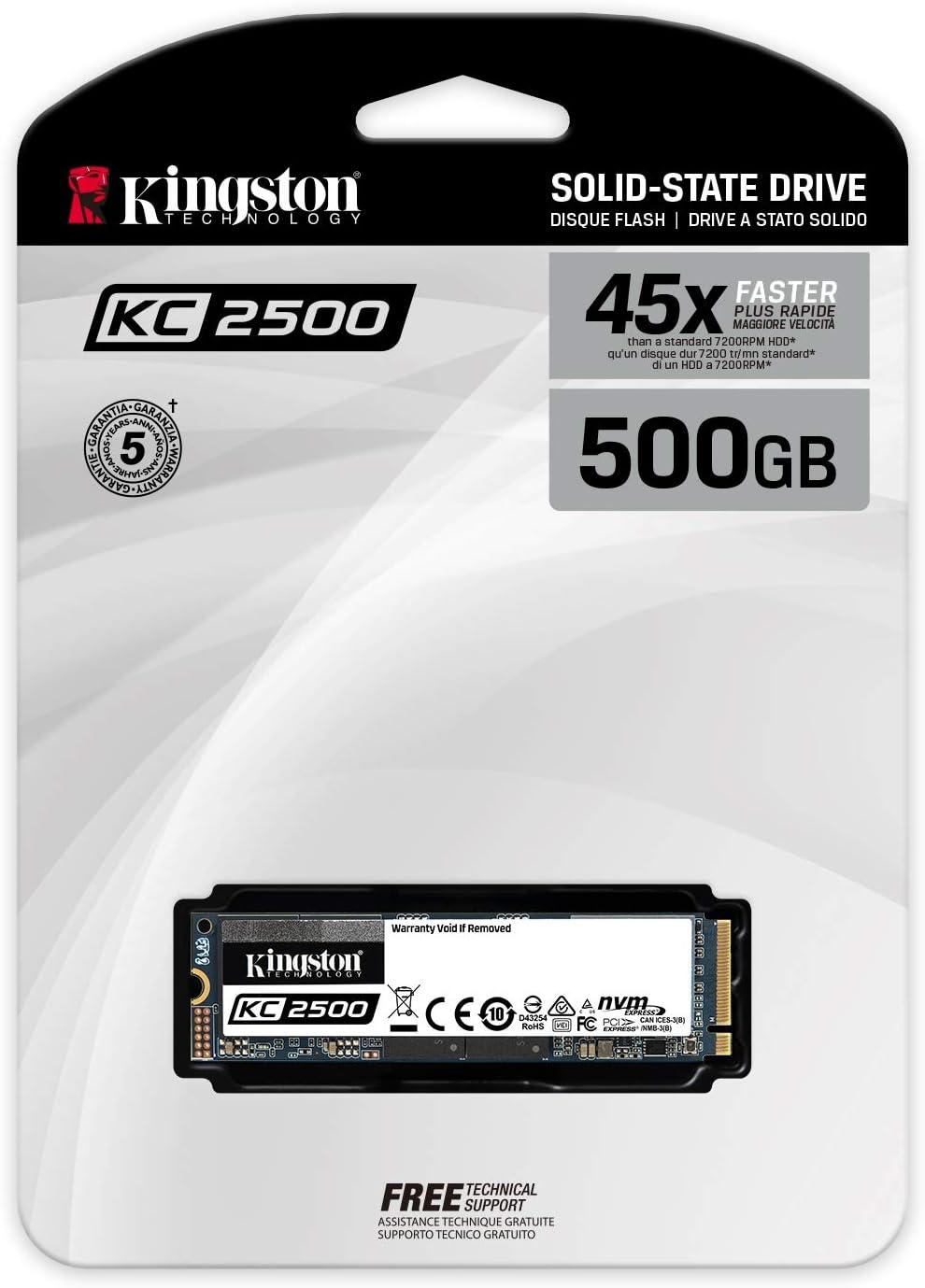 Kingston Kc2500 Nvme Pcie Ssd Skc2500m8 500g M 2 2280 Computer Zubehör