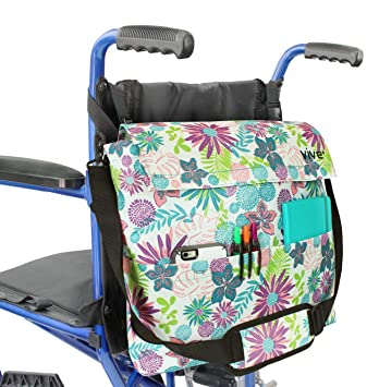 Vive Wheelchair Bag - Wheel Chair Storage Tote Accessory for Carrying Loose Items and Accessories -