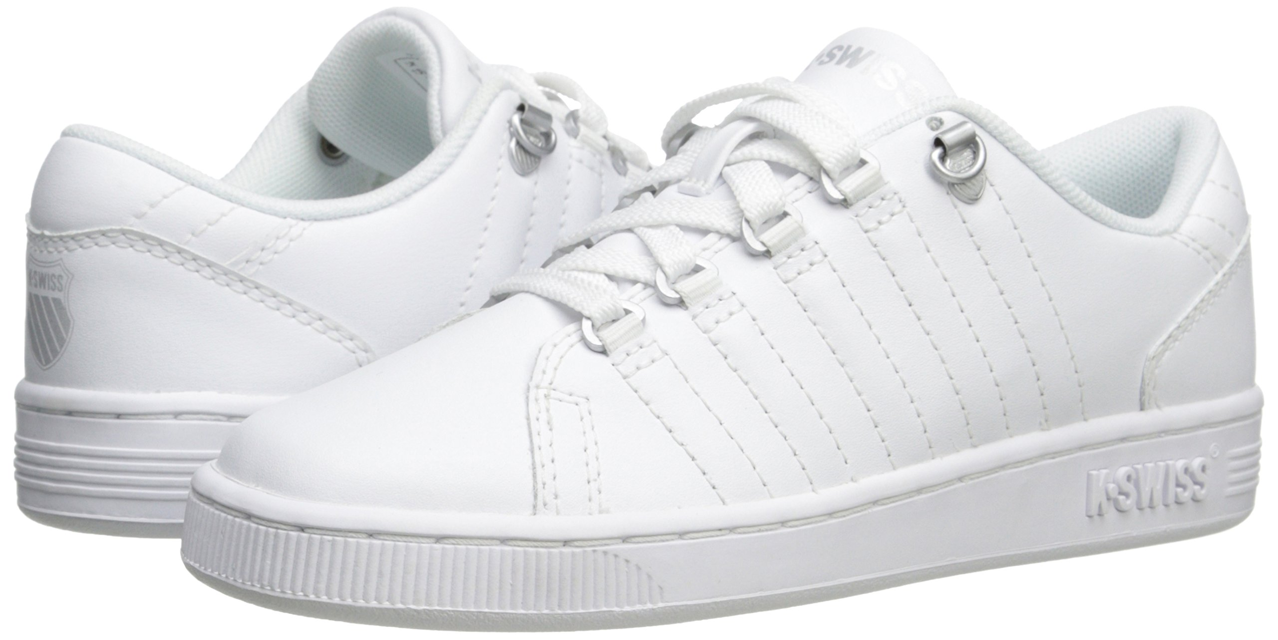 K-Swiss 8110 Lozan Sneaker (Big Kid),White/White/Silver,3.5 M US Big Kid by K-Swiss (Image #6)