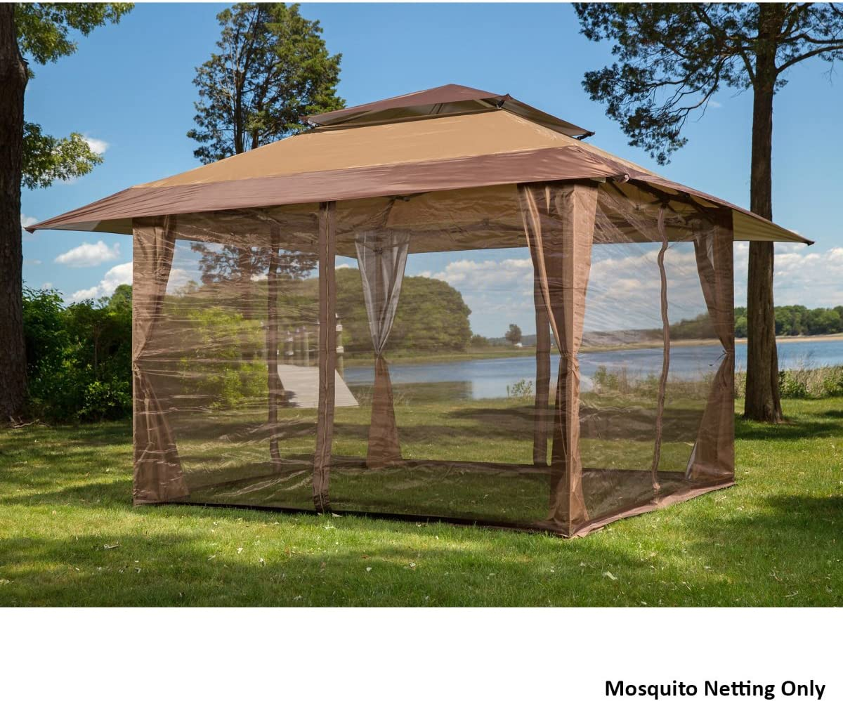 Westerly Four Panel Pack of Easy to Netting with Zippers for 10×10 Gazebos -Keep Mosquitoes Out