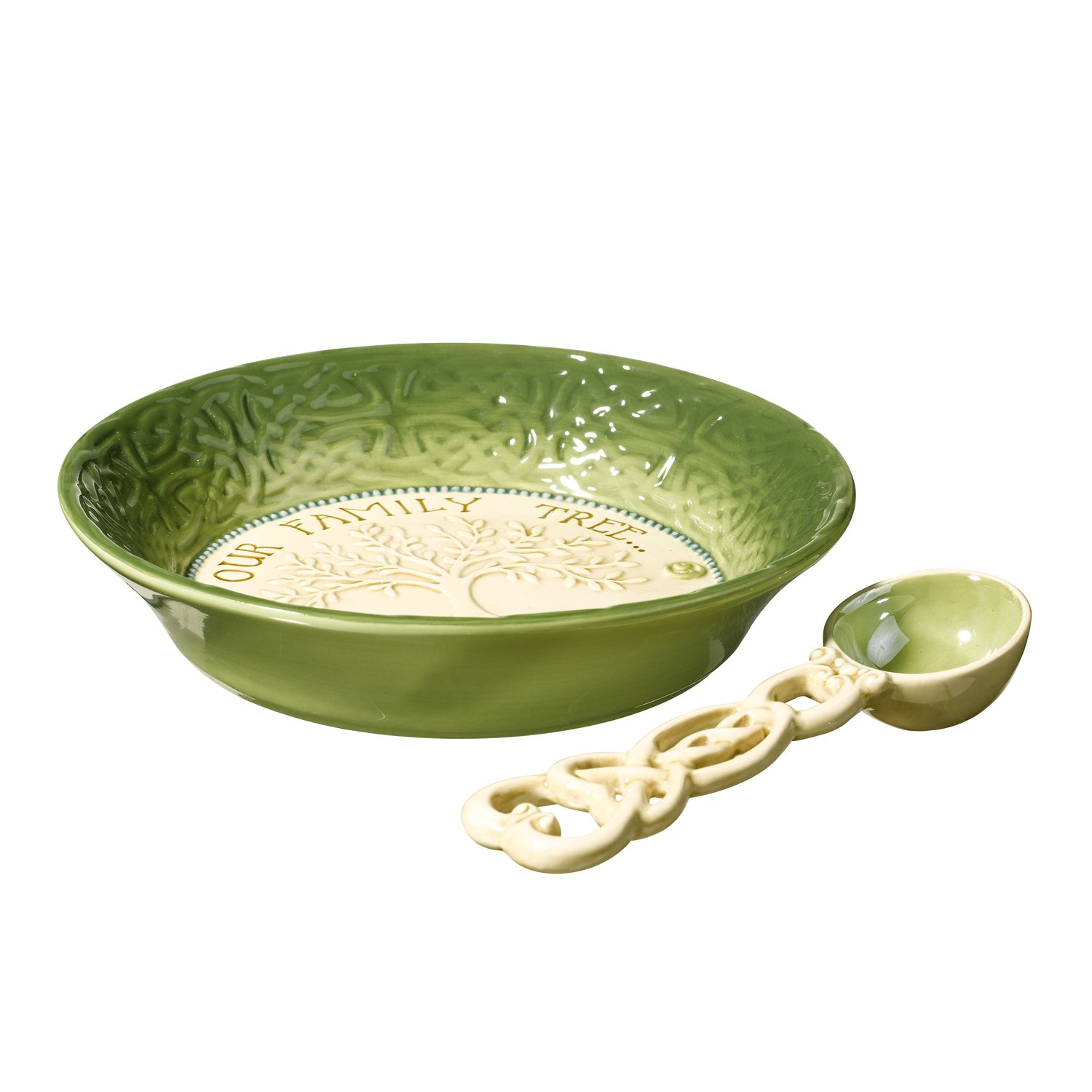Grasslands Road Celtic 1-1/2-Inch by 7-1/2-InchOur Family Tree Is Full of Nuts Nut Bowl with Spoon, Gift Boxed 461087