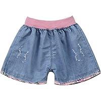 Freebily Pantalones Cortos para Niña Princesa con Bolsillos Dibujos Lindos Rosa Pants Shorts de Vaquero Chicas…