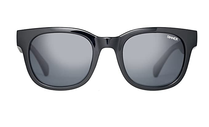 68de52c4b28 Sinner Bromley Shiny Black CX Sintec Smoke Polarized Sunglasses   Amazon.co.uk  Clothing
