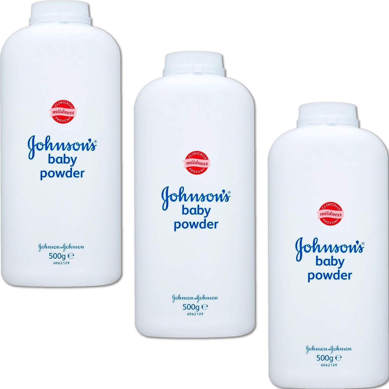 Johnsons Baby Powder - Talco Bebé 500gr, Paquete de 3: Amazon.es: Bebé