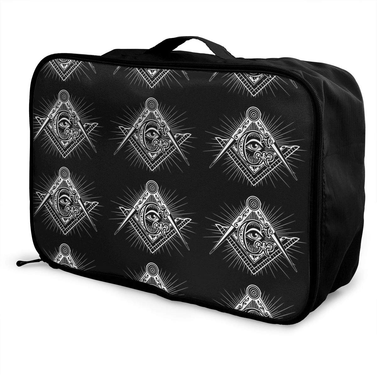 Large Capacity Portable Weekend Bag Overnight Tote Bag Foxes On Bicycle Luggage Duffel Bag for Women Girls