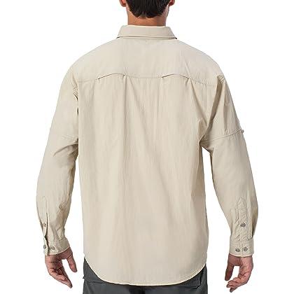 Sun Protection Outdoor Long Sleeve Shirt Lightweight Quick-Dry Cooling Fishing Shirts NAVISKIN Mens UPF 50