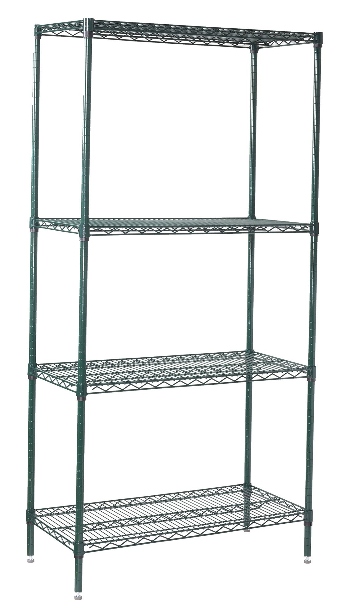 Winco VEXS-2448 4-Tier Wire Shelving Set, Epoxy Coated, 24'' X 48'' X 72'' by Winco