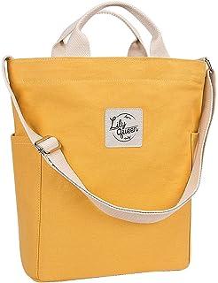 0260be89d696 Lily Queen Women Canvas Tote Handbags Casual Shoulder Work Bag Crossbody