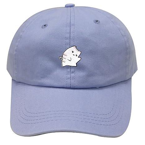 147261ab088 Cute Cat Adjustable Strapback Baseball Cap Cute Cat Unisex Dad Baseball Cap  Trucker Snapback Hat at Amazon Women s Clothing store