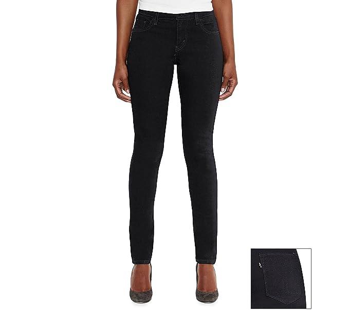 Levis - Pantalones Vaqueros para Mujer - Negro - 18 Largo