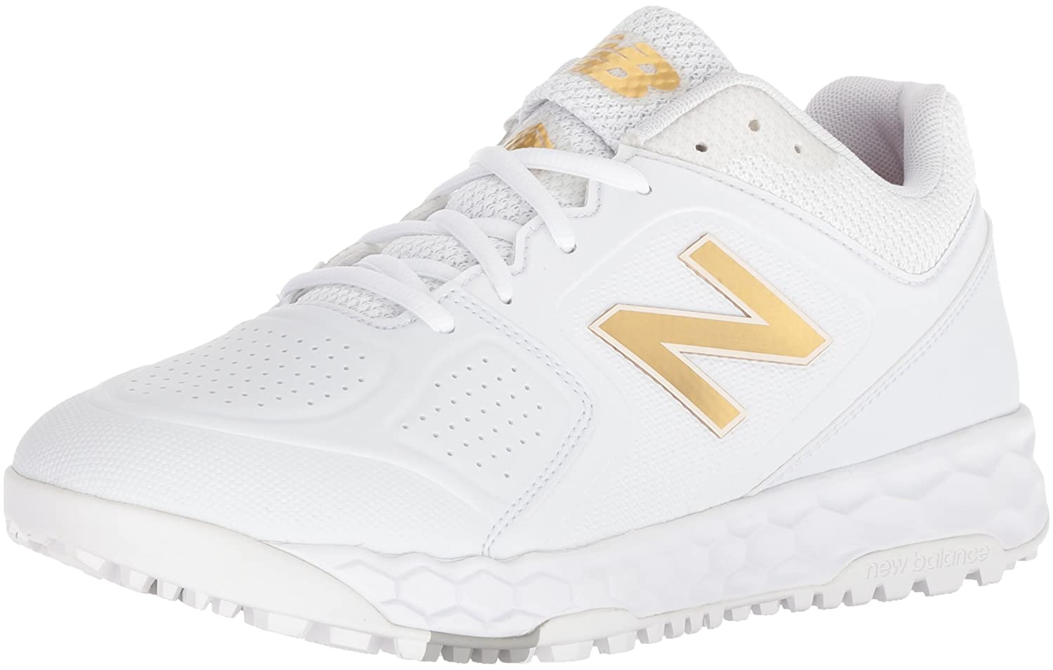 New Balance Softball Women's Velo V1 Turf Softball Balance Shoe B075R7BYW6 6.5 D US|White/White 21c0ee