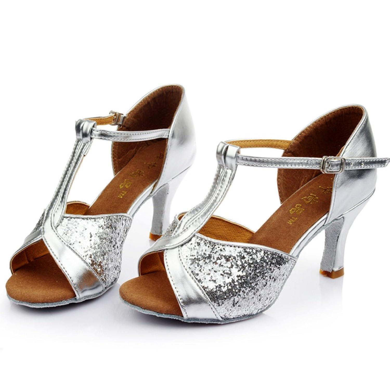 a7a1440c Lovely Zapatos Latinos Profesionales De La Muchacha De Las Mujeres De Satén  Superior Sandalias De Salsa