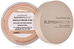 bareMinerals Escentuals Blemish Rescue Skin-clearing Loose Powder Foundation for Women, 2.5n Medium Beige, 0.21 Oz
