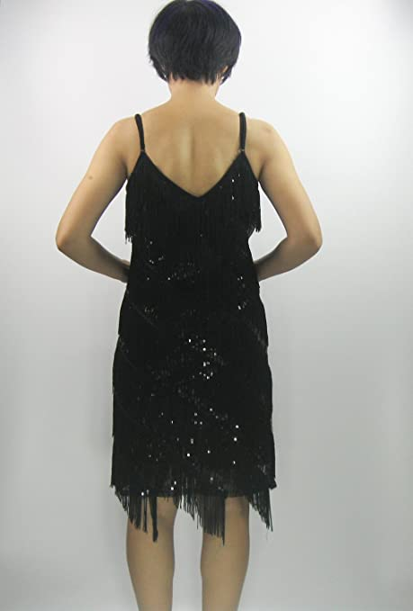 Amazon.com  Whitewed Fringe Sequin Great 20 s Gatsby Latin Dance Slip  Flapper Dresses 2015 Collection  Clothing 3a4c8d5c7