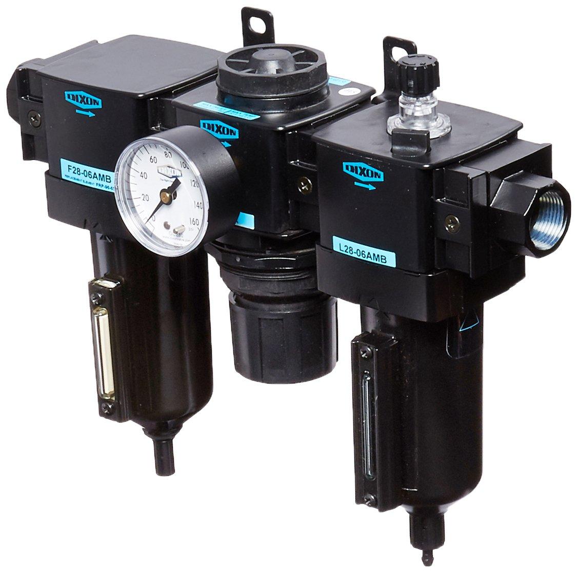 175 SCFM Flow 3//4 Size Dixon C28-06AMB Automatic Drain Wilkerson Standard Combination Unit with Metal Bowl and Sight Glass 250 psig Pressure