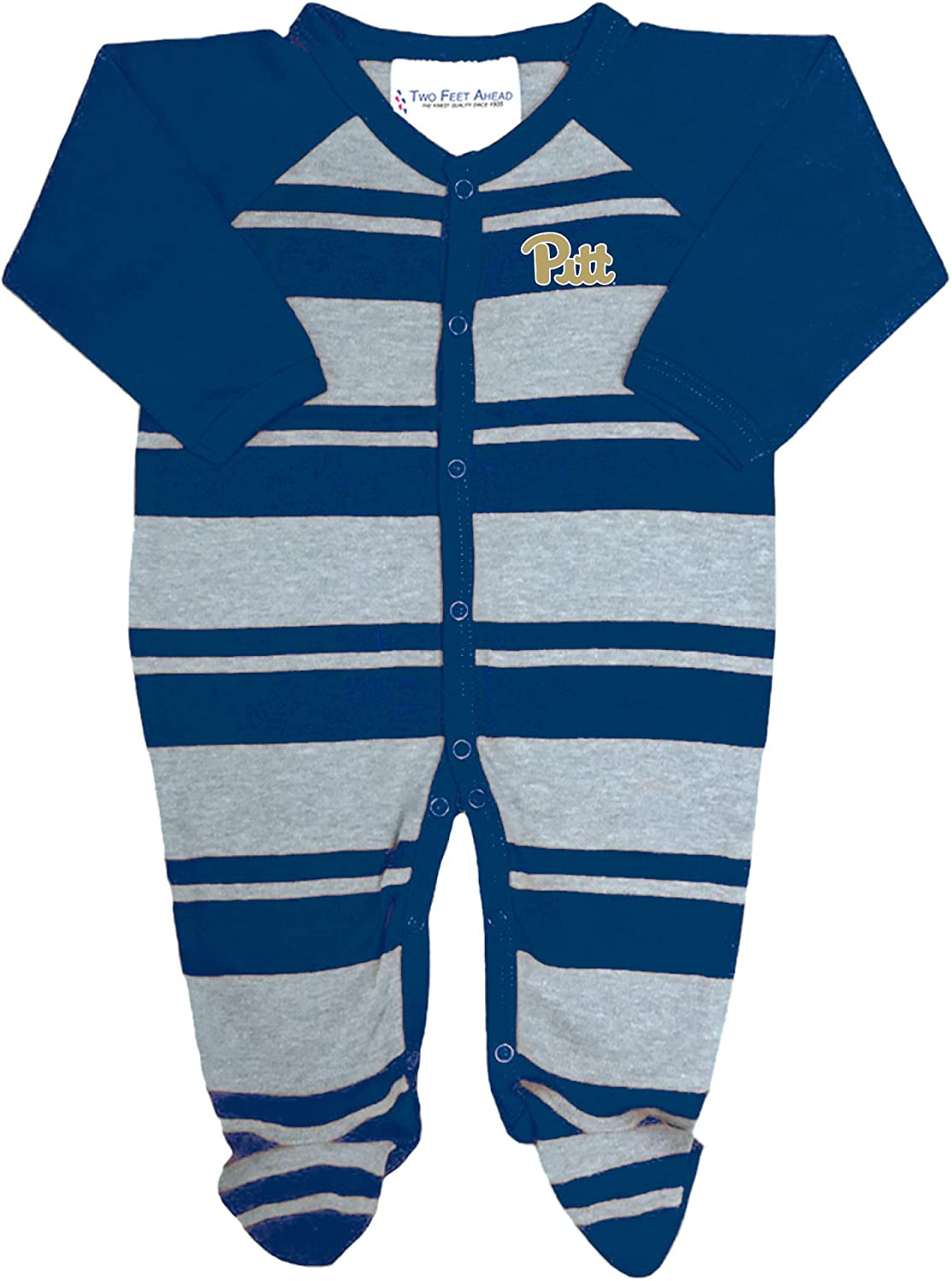 Pittsburgh Panthers NCAA Newborn Baby Long Sleeve Colored Footed Romper