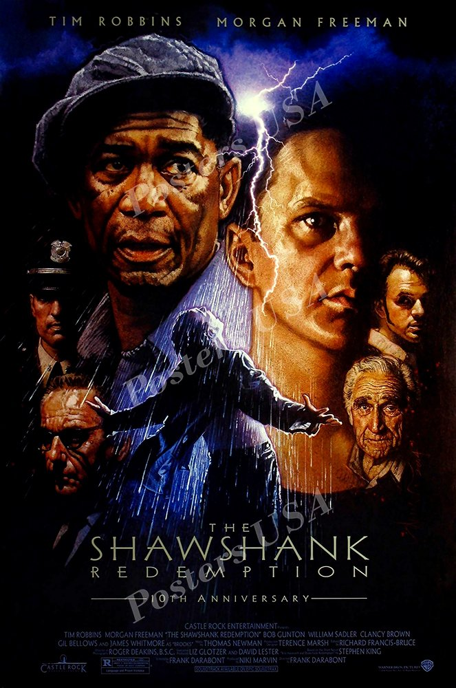 "Posters USA - The Shawshank Redemption Movie Poster GLOSSY FINISH- MOV122 (24"" x 36"" (61cm x 91.5cm))"