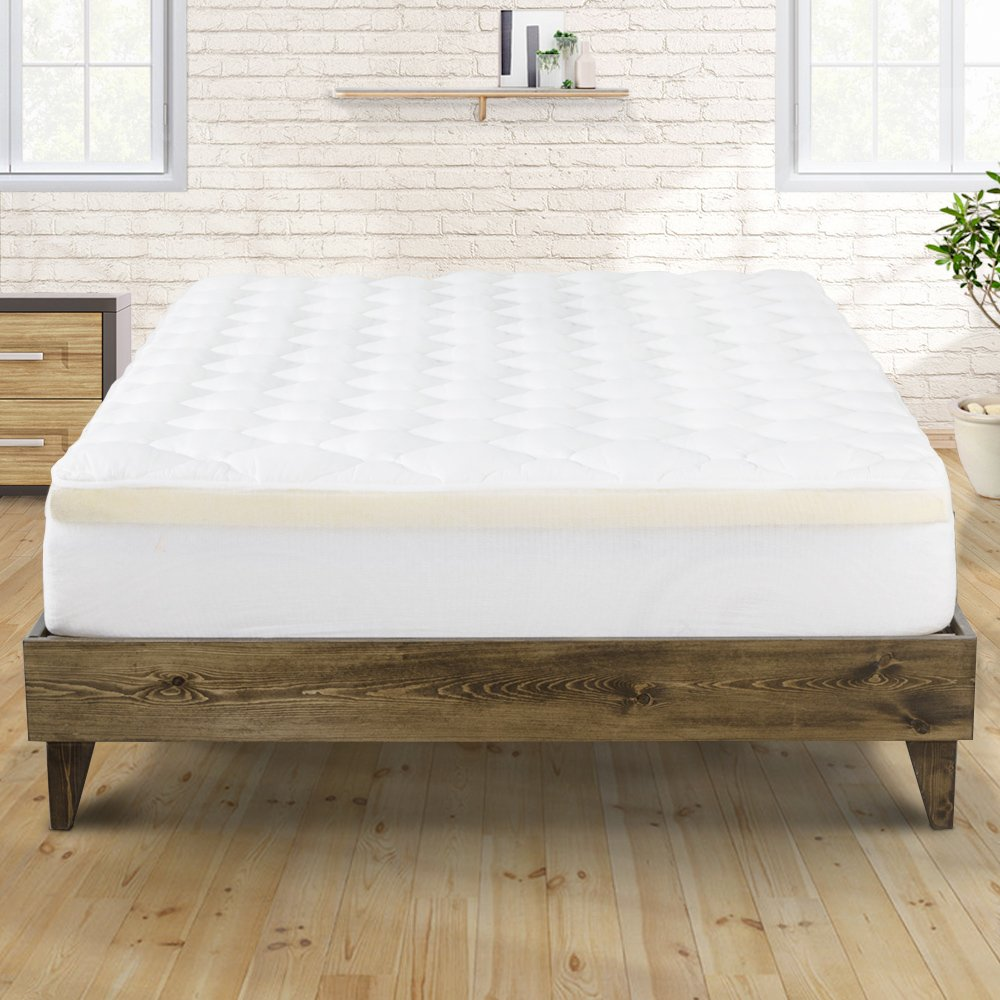 Bamboo Overfilled and Double Thick Pillow Top Mattress Pad, California King