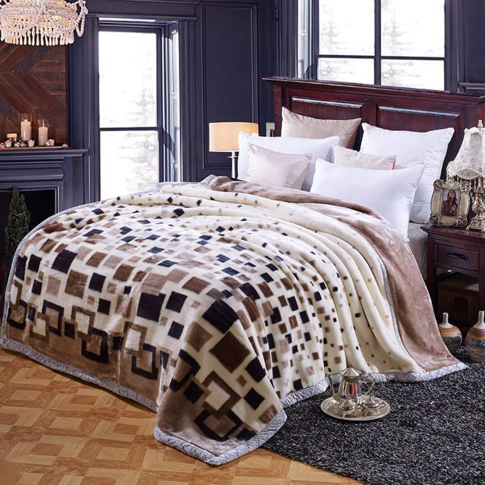 WCH ベッドの裏地の冬の厚くされたフランネルの綿毛布、暖かい単一の二重タオルのキルト毛布 ソファブランケット (Color : 200x230cm(79x91inch), サイズ : H) B07PZX12XF 200x230cm(79x91inch) H