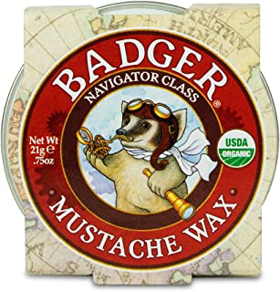 product image for Badger - Mustache Wax, Medium Hold, Natural Mustache Wax, Certified Organic, Styling Facial Hair Wax, Moustache Wax, 0.75oz