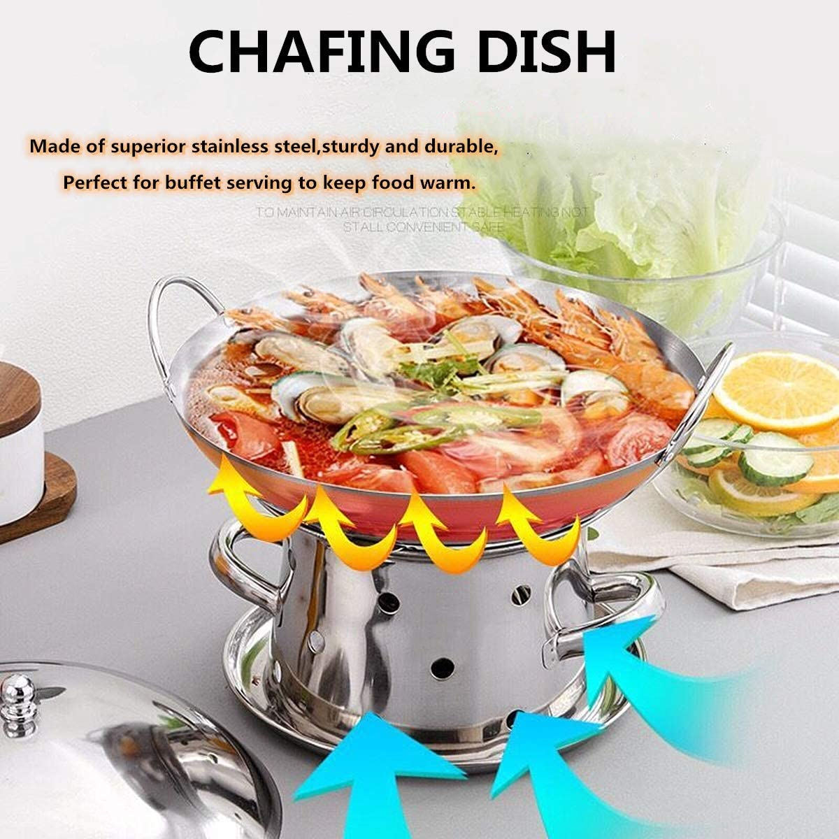 Stainless Steel Chafing Dish with Pans and Fuel Holders Mini ...