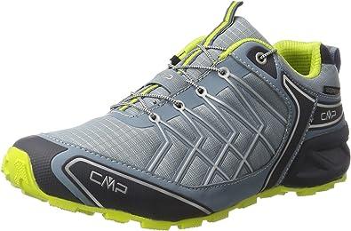 CMP Super X, Zapatillas de Running para Asfalto para Hombre, Gris (Acciaio-b.Blue-Lime), 40 EU: Amazon.es: Zapatos y complementos