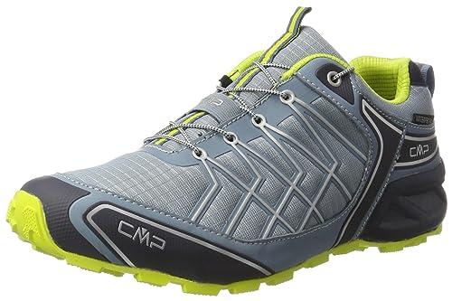 CMP Men's Super X Trail Running Shoes, Grau (Acciaio-B.Blue-