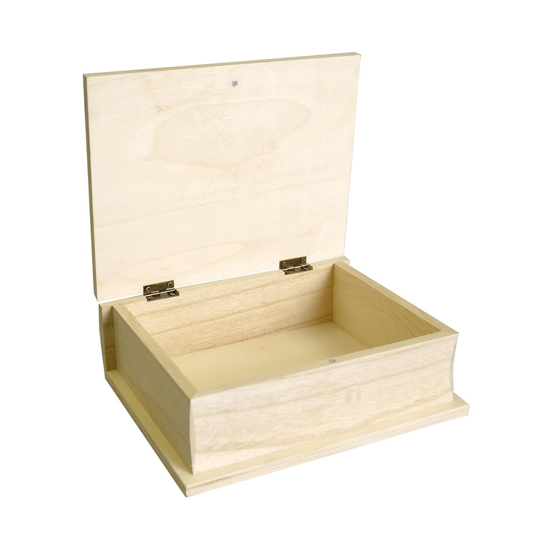 Artemio 17 x 21 x 7 cm Wooden Book, Beige 14001643