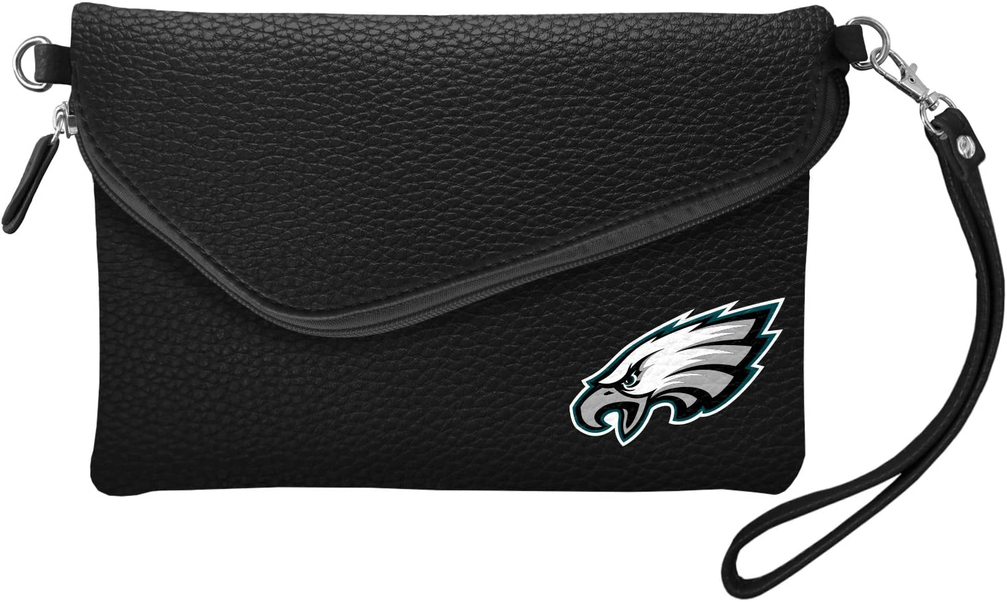 Littlearth NFL Womens NFL Fold Over Crossbody Pebble Purse
