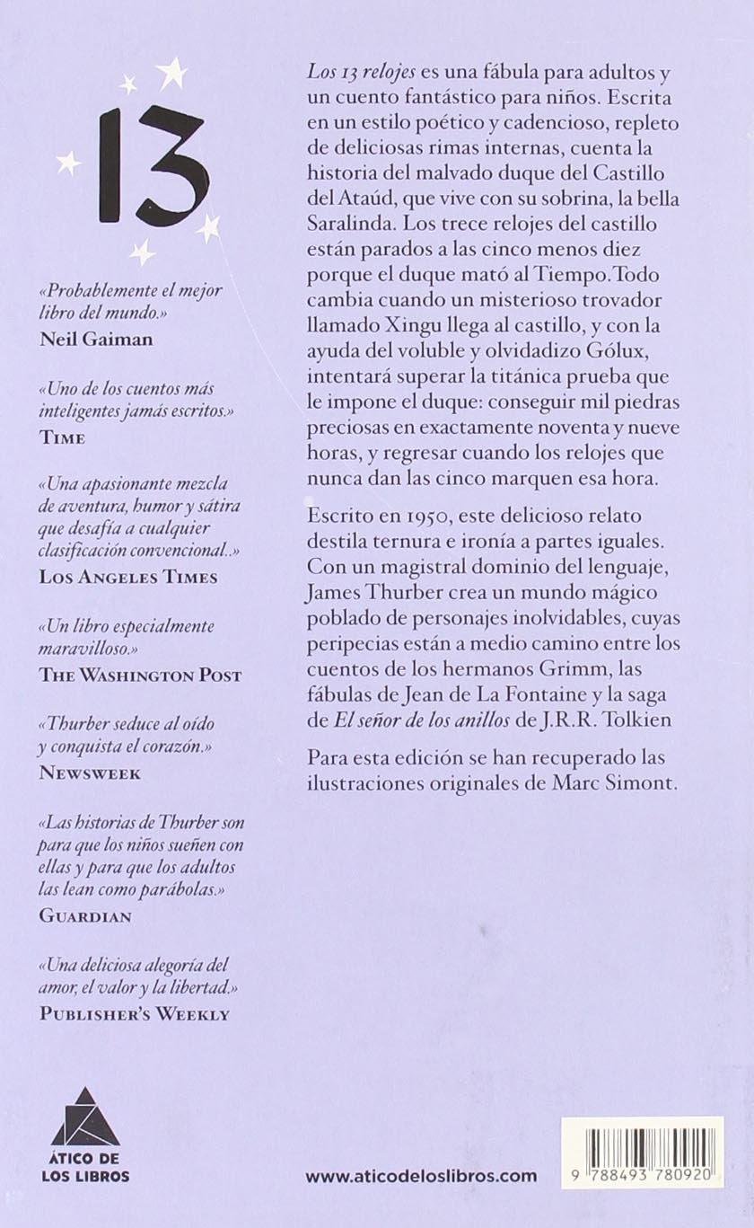 Los 13 relojes (Spanish Edition): James Thurber: 9788493780920: Amazon.com: Books