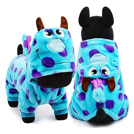 hongxyunf Perro Ropa para Mascotas Vestido de Fiesta Lindo Perro Ropa de Invierno Abrigo Dragón Tela