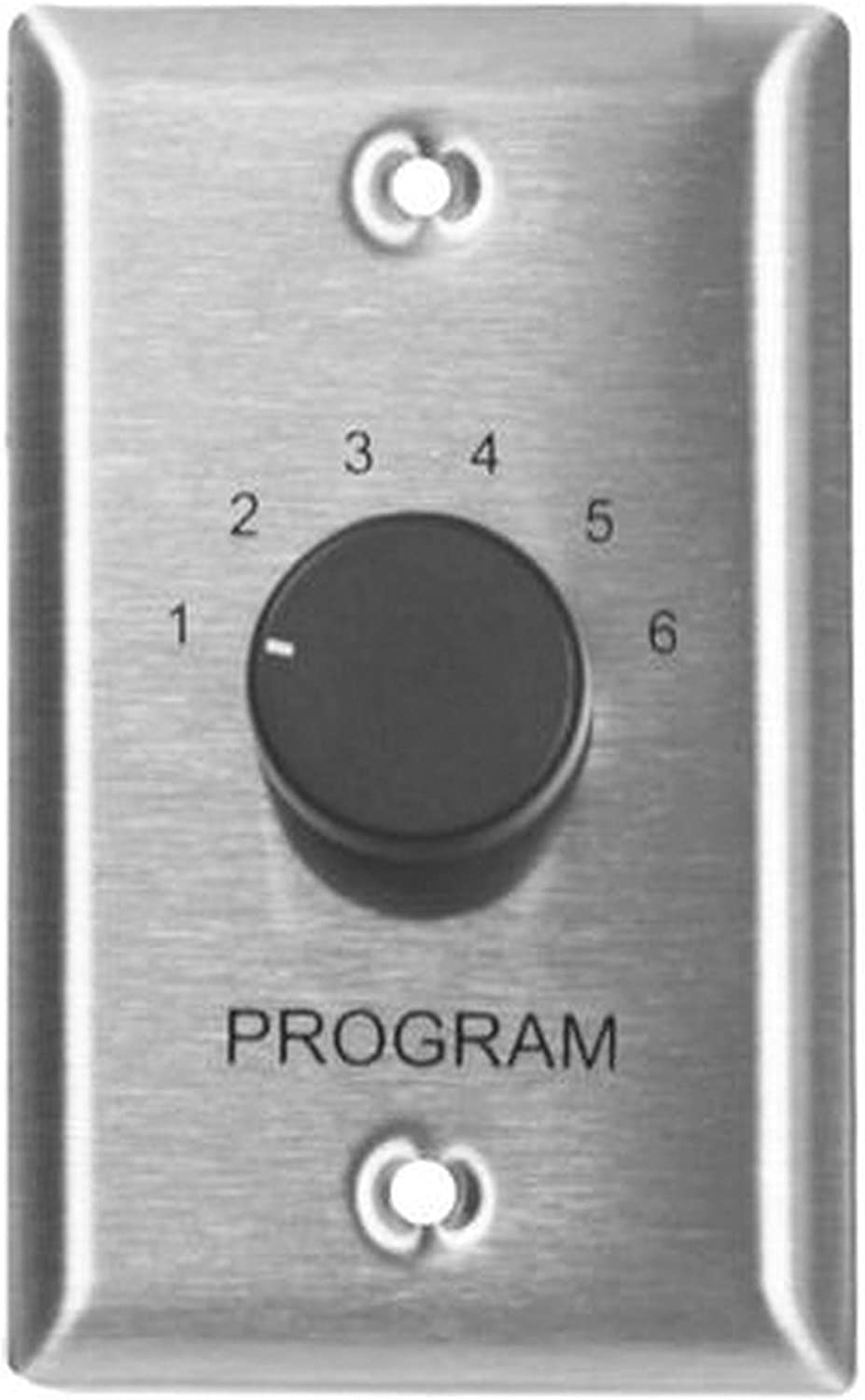 Lowell CS6-SS 6-Source Program Selector Switch Stainless Steel Single Unit
