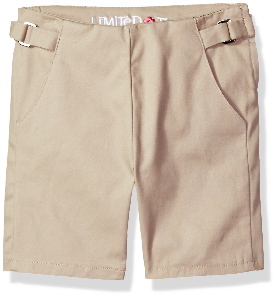Limited Too Big Girls' Twill Short (More Styles Available), Khaki-CAHC, 7