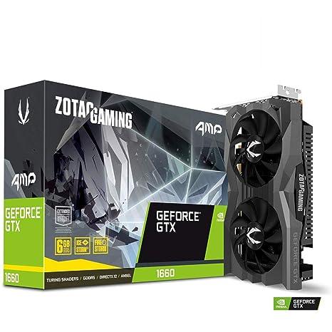 Zotac ZT-T16600D-10M - Tarjeta gráfica (GeForce GTX 1660, 6 GB, GDDR5, 192 bit, PCI Express 3.0, 2 Ventilador(es))