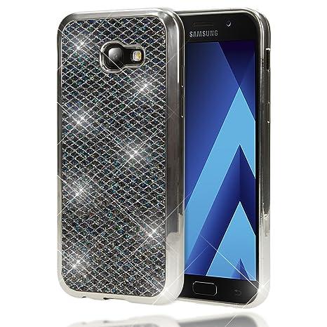 NALIA Purpurina Funda para Samsung Galaxy A5 2017, Carcasa Protectora Movil Silicona Fina Glitter Bumper Lentejuela Cubierta Cobertura Delgado Cover ...