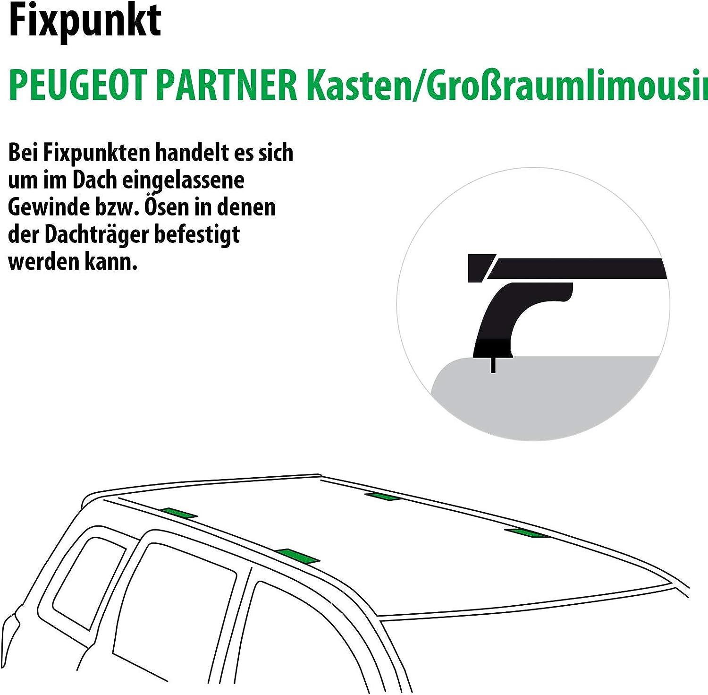Dachtr/äger SquareBar f/ür Peugeot EXPERT Kasten Rameder Komplettsatz 136891-36582-3