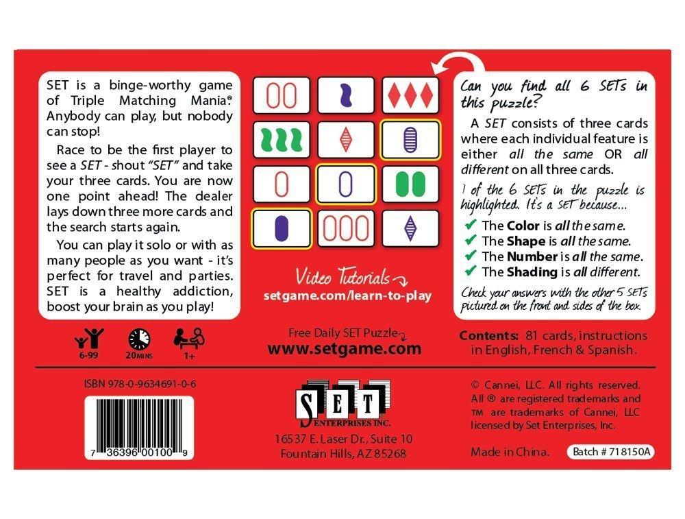 The Family Game of Visual Perception /& Karma Card Game Set WhoIsCamera SET