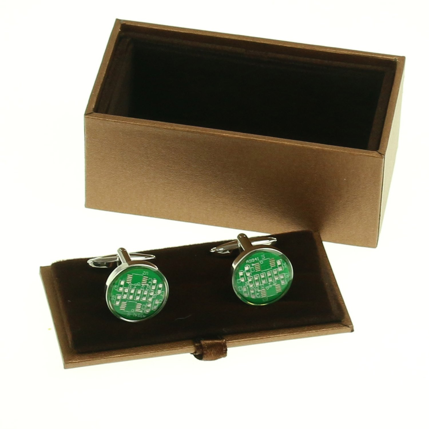 Lieomo Integrated Circuit Cuff Links Board Cufflinks Computer Chip For Men Women Boyfriend Christmas Gift With Box Jewelry