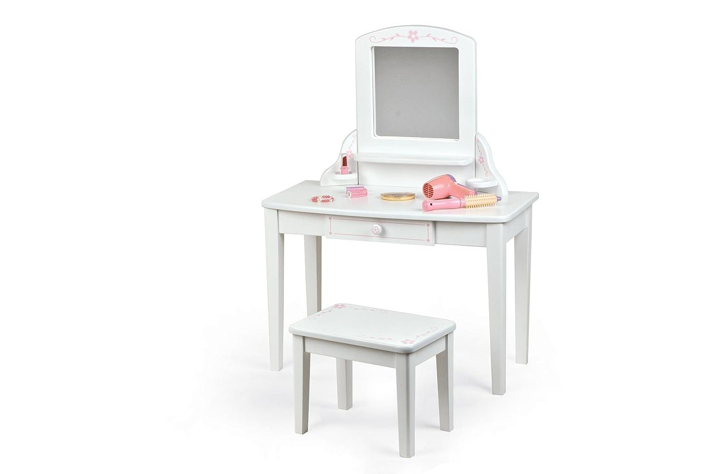 ... Pintoy Vanity Unit White Amazon Kitchen Home Watchthetrailerfo Little  Girls Makeup Table Image ...