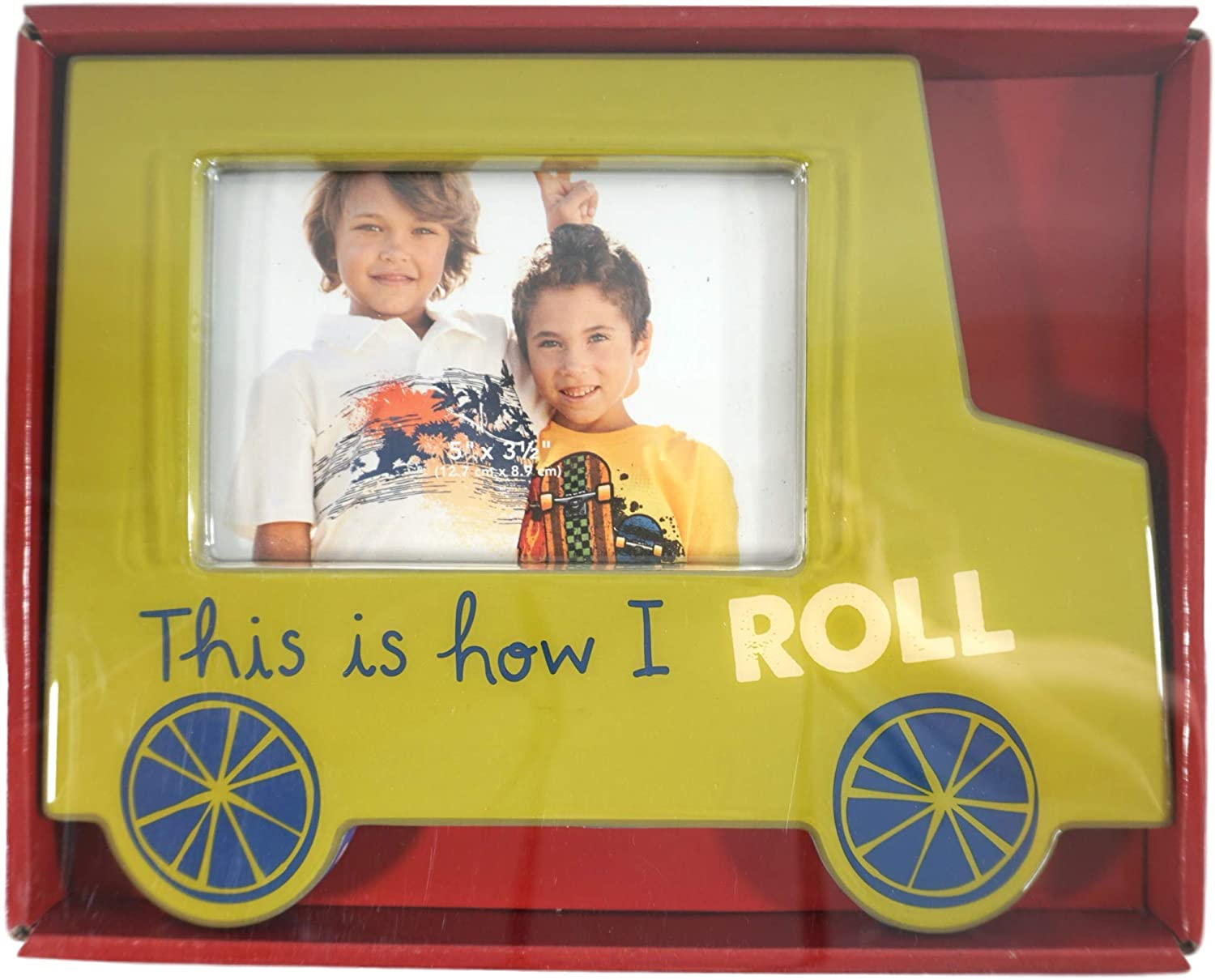 St Nicholas Square This Is How I Roll School Bus Frame 5 X 3-1//2