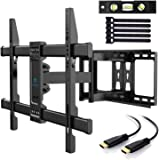 TV Wall Mount Full Motion Swivel Dual Articulating Arm for Most 37-70 Inch LED, LCD, OLED, Plasma TVs up to VESA 600x400mm, 1