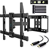 PERLESMITH TV Wall Mount Full Motion Swivel Dual Articulating Arm for Most 37 -70 inch LED, LCD, OLED, Plasma TVs up to…